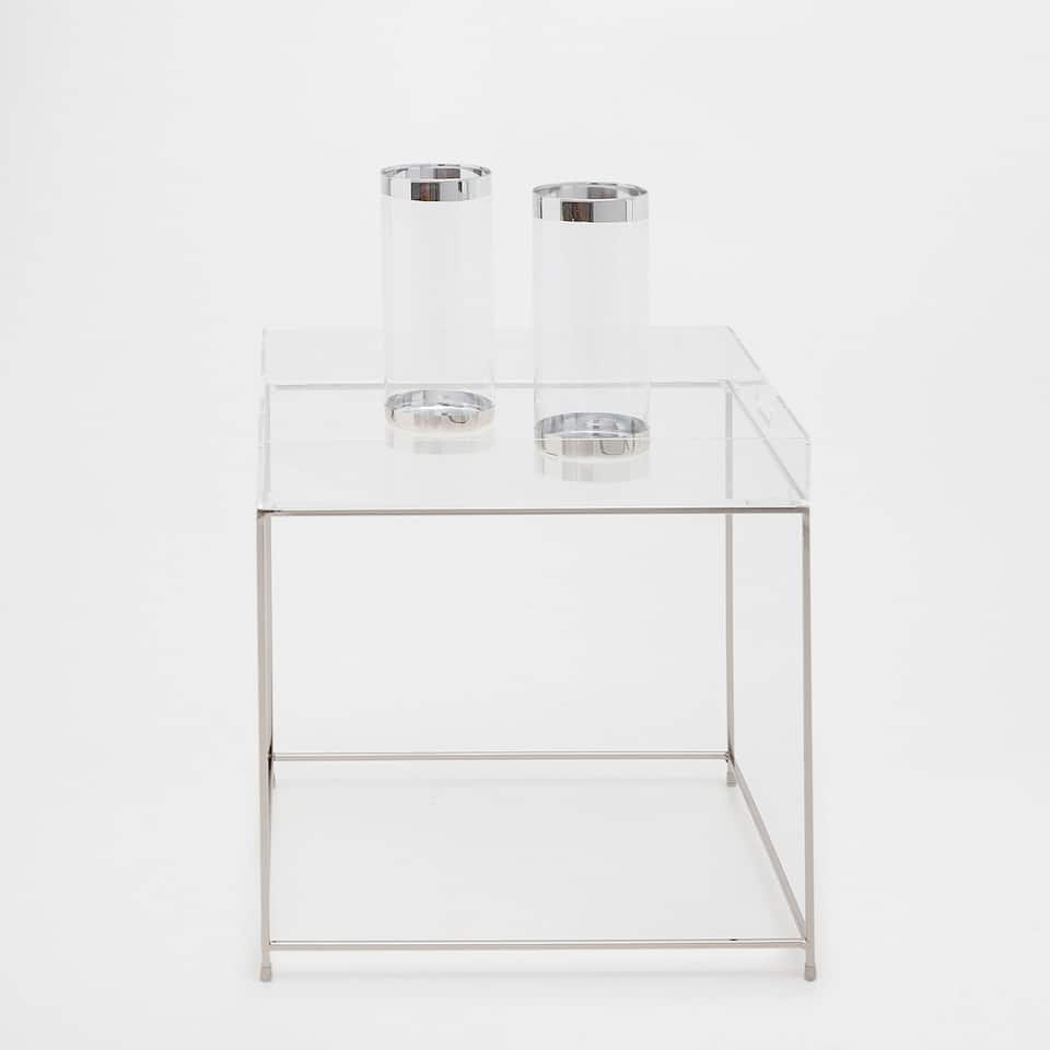 METAL TRAY SIDE TABLE