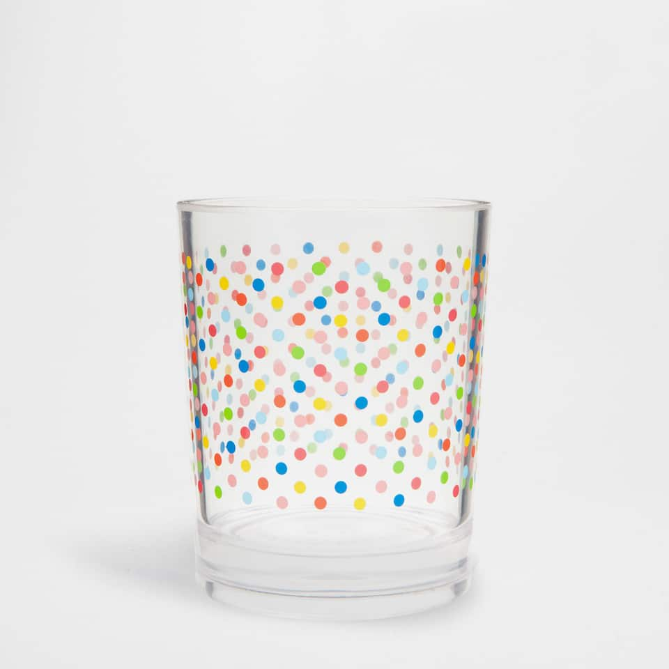 Multicoloured dots tumbler