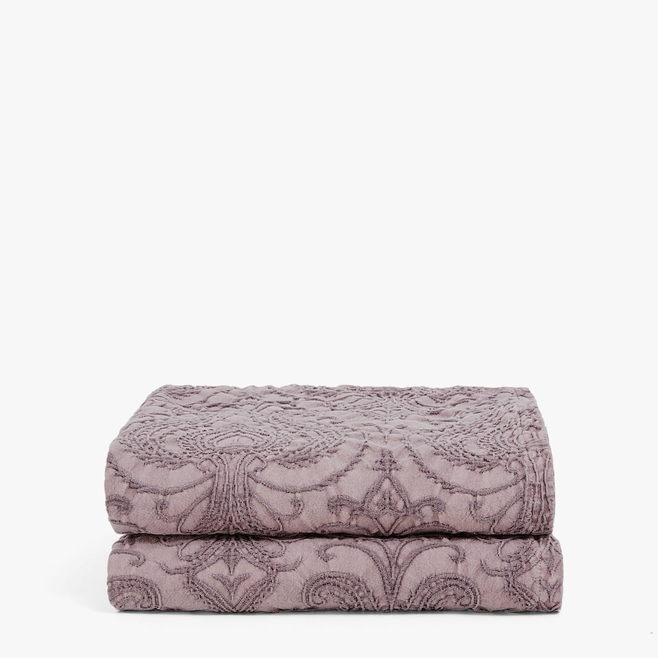 FADED COTTON DAMASK BEDSPREAD