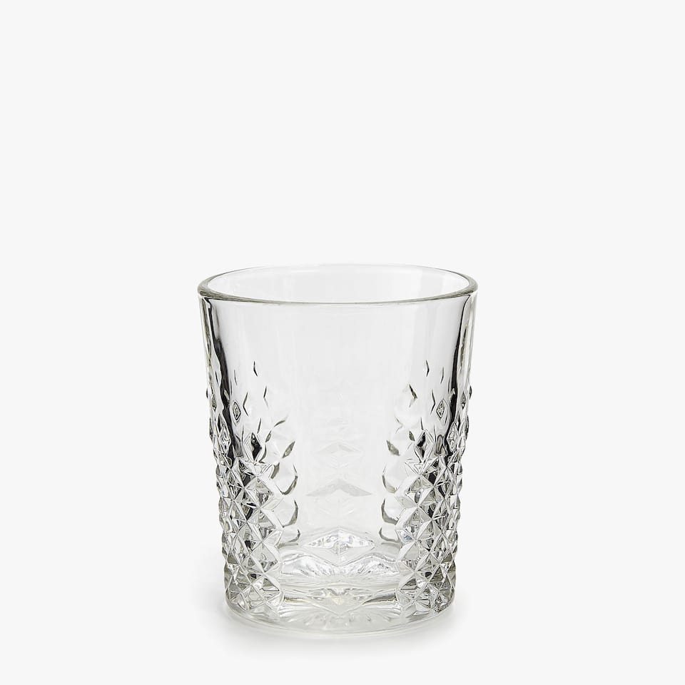 VASO GAIA DECO RELIEVE VIDRIO