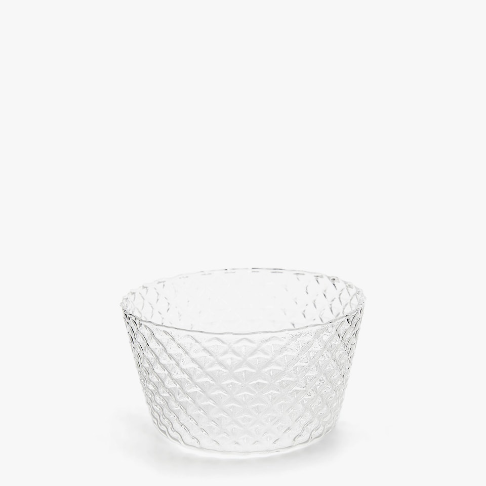 BOROSILICATE BOWL WITH RAISED TRIM