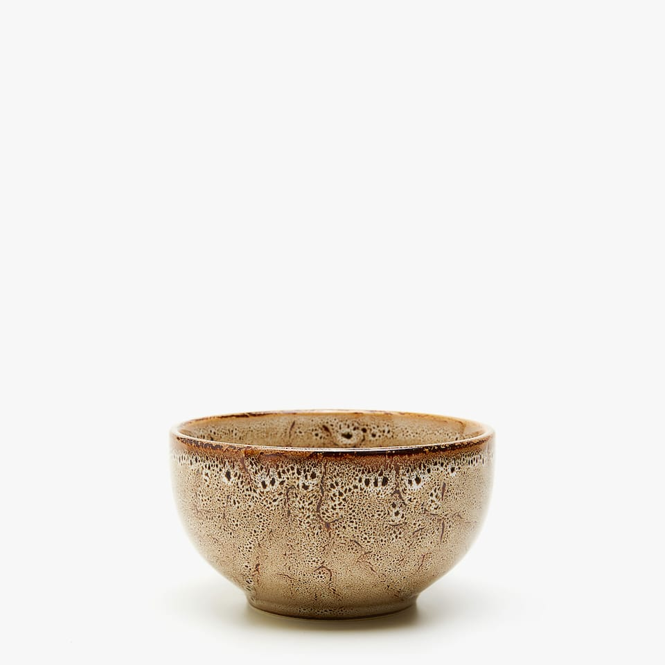 EARTHENWARE BOWL WITH DEGRADÉ FINISH