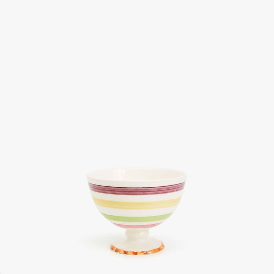 MULTICOLOURED EARTHENWARE BOWL