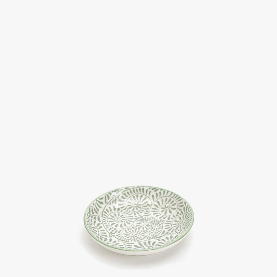 PORCELAIN MINI BOWL WITH LEAF DESIGN