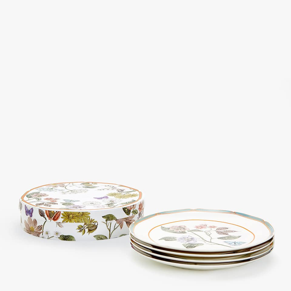 DINNER PLATE WITH TRANSFER (SET OF 4)