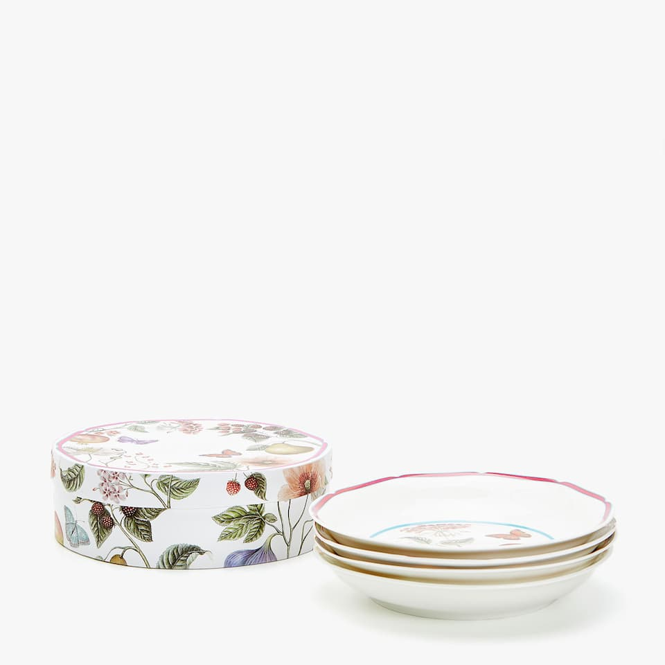 SOUP DISH WITH TRANSFER (SET OF 4)