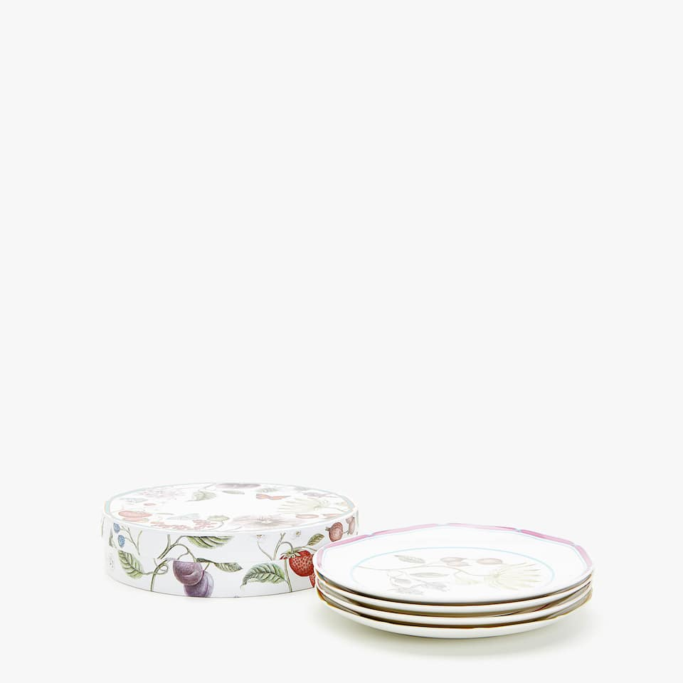 DESSERT PLATE WITH TRANSFER (SET OF 4)