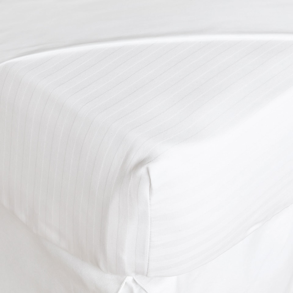 Cotton Striped Mattress Protector