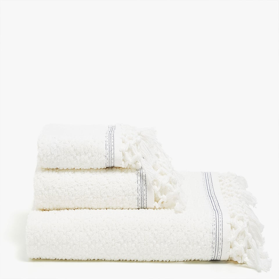 CROCHET AND COTTON JACQUARD TOWEL