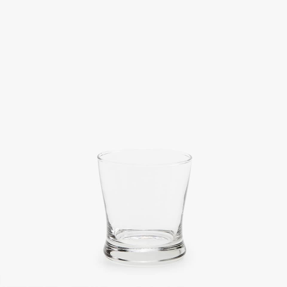 CHRYSTALLINE WATER GLASS WITH THICK BASE