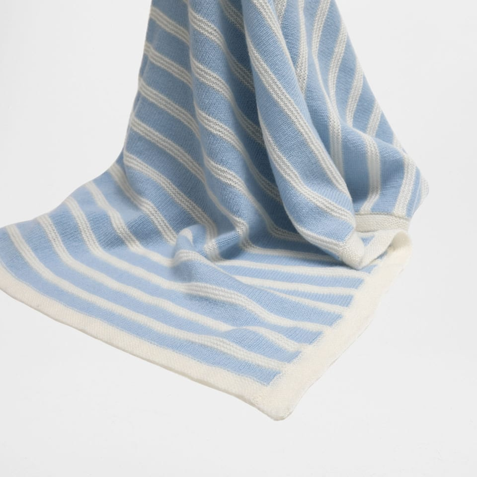 STRIPED CASHMERE BLANKET