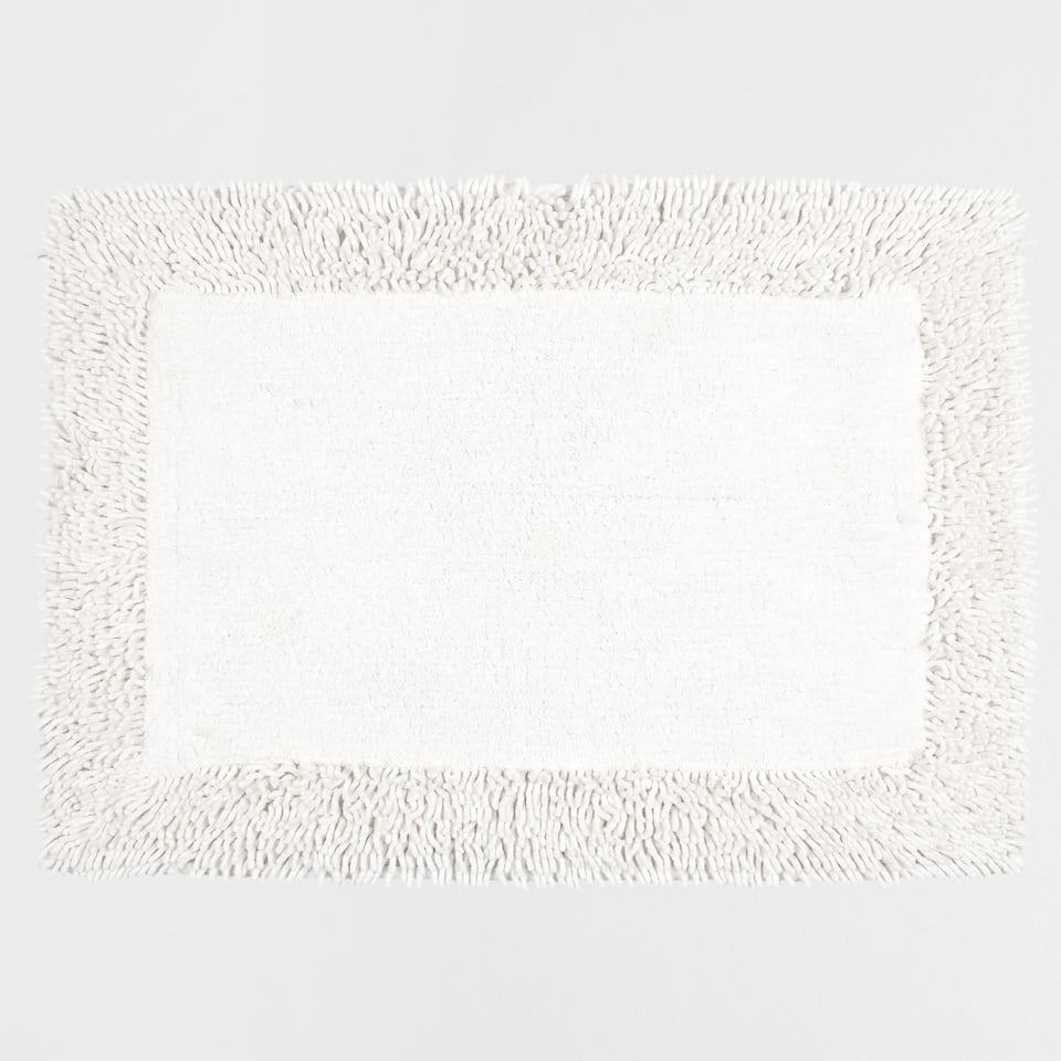 SMOOTH CHENILLE COTTON BATH MAT