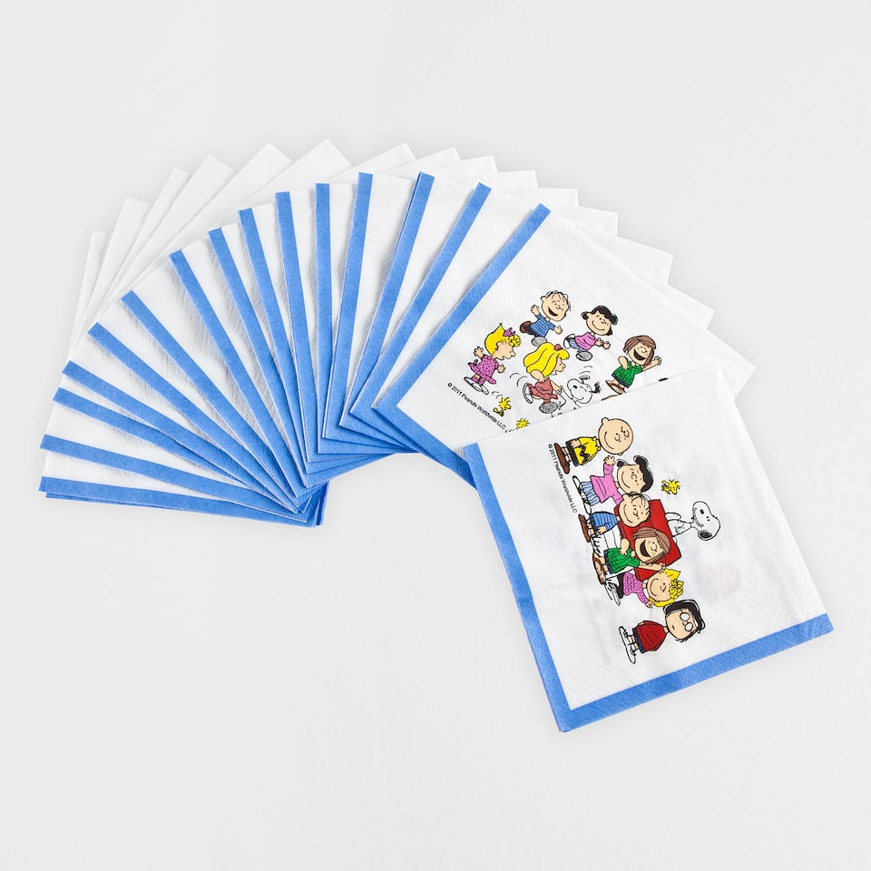 SNOOPY PRINT PAPER NAPKINS (SET OF 20)
