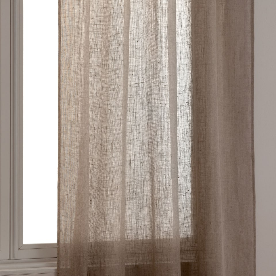 SOLID-COLOURED LINEN CURTAIN
