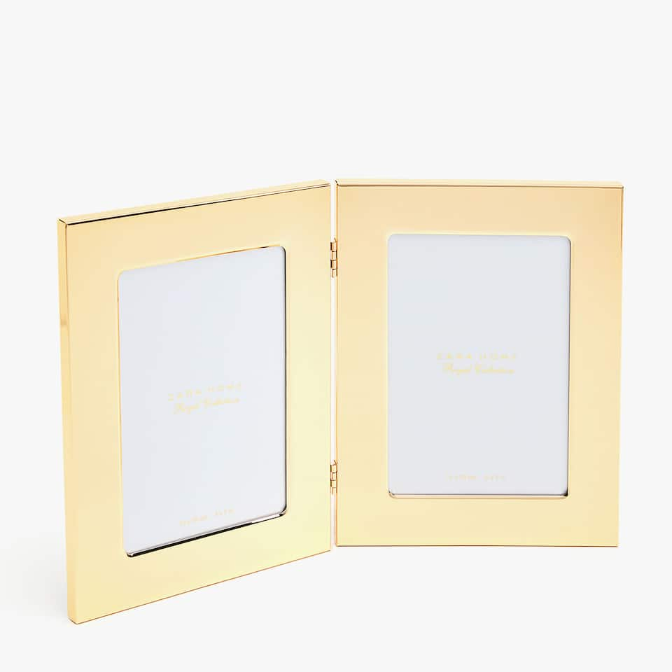 Gold frame for two photos