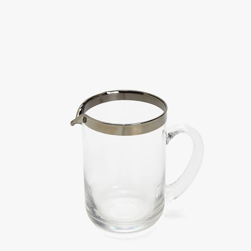 PLATINUM-RIMMED PITCHER
