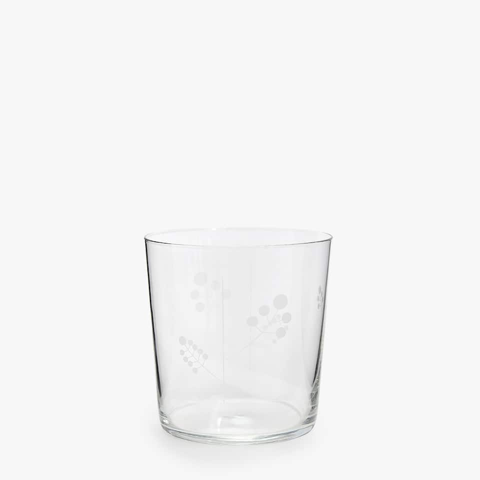 VASO TROPICAL VIDRIO