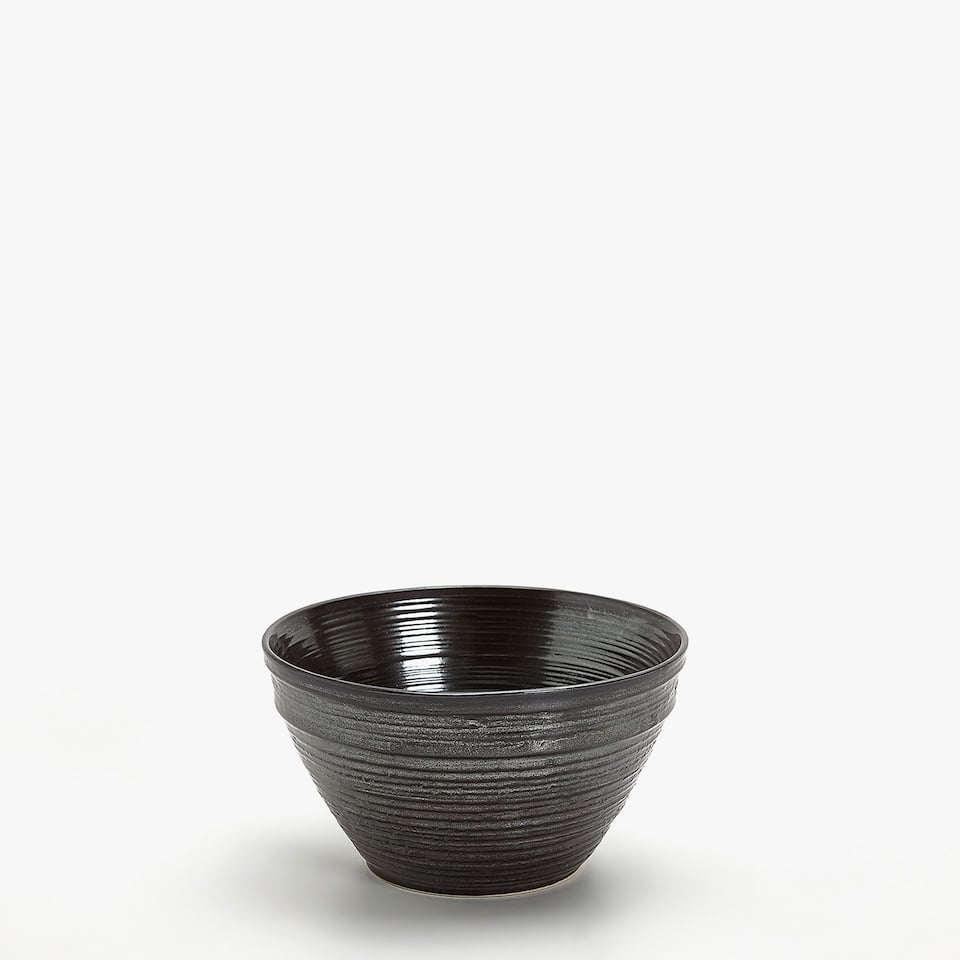 GREY METALLIC BOWL