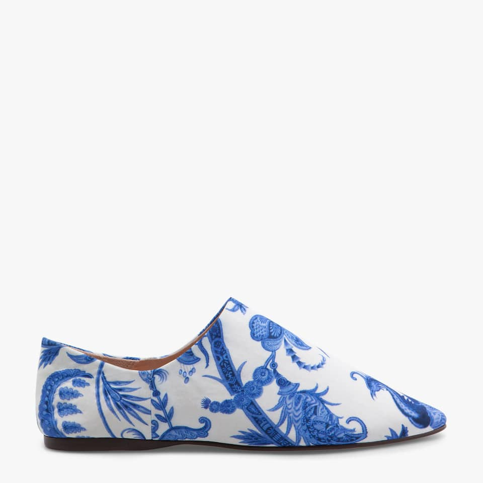 FLORAL PRINT BABOUCHE SLIPPERS