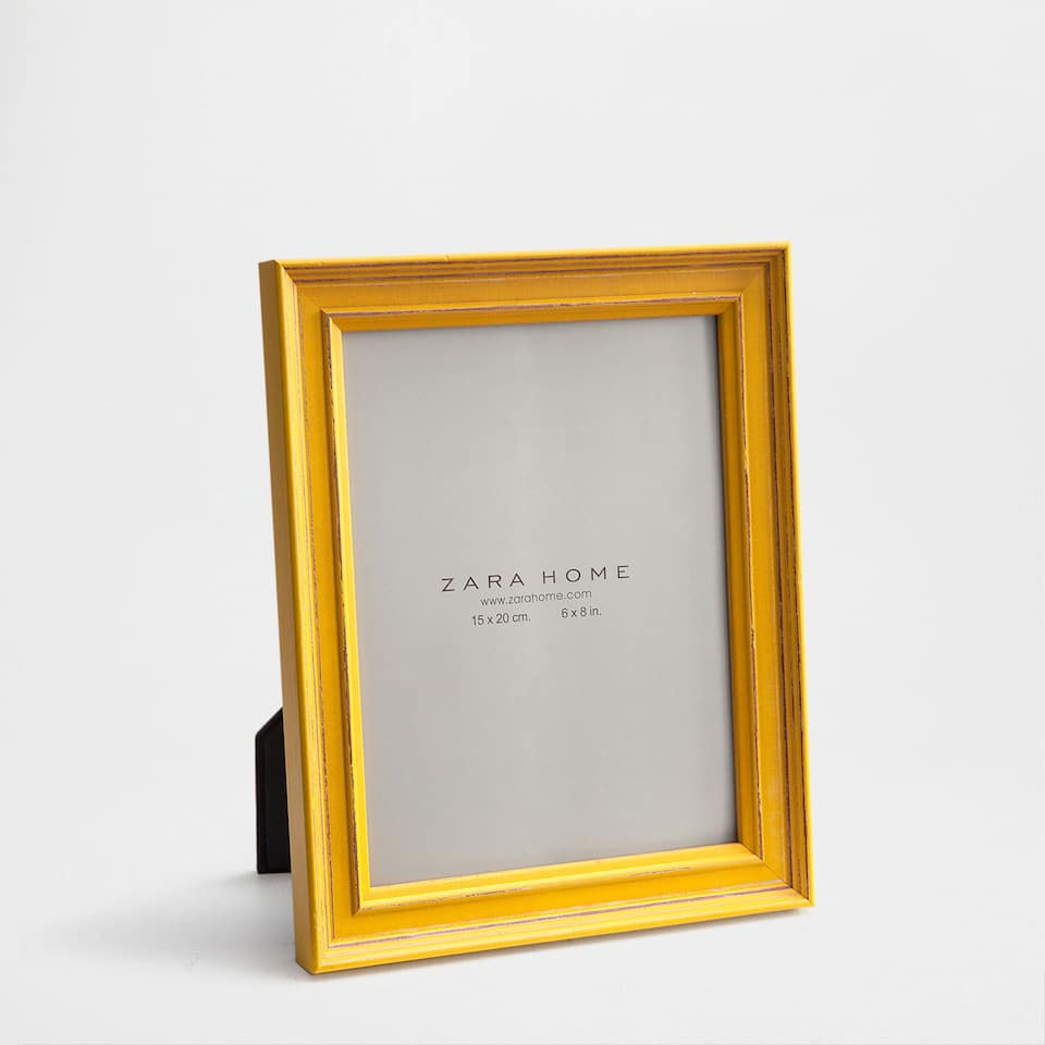 Yellow wooden frame