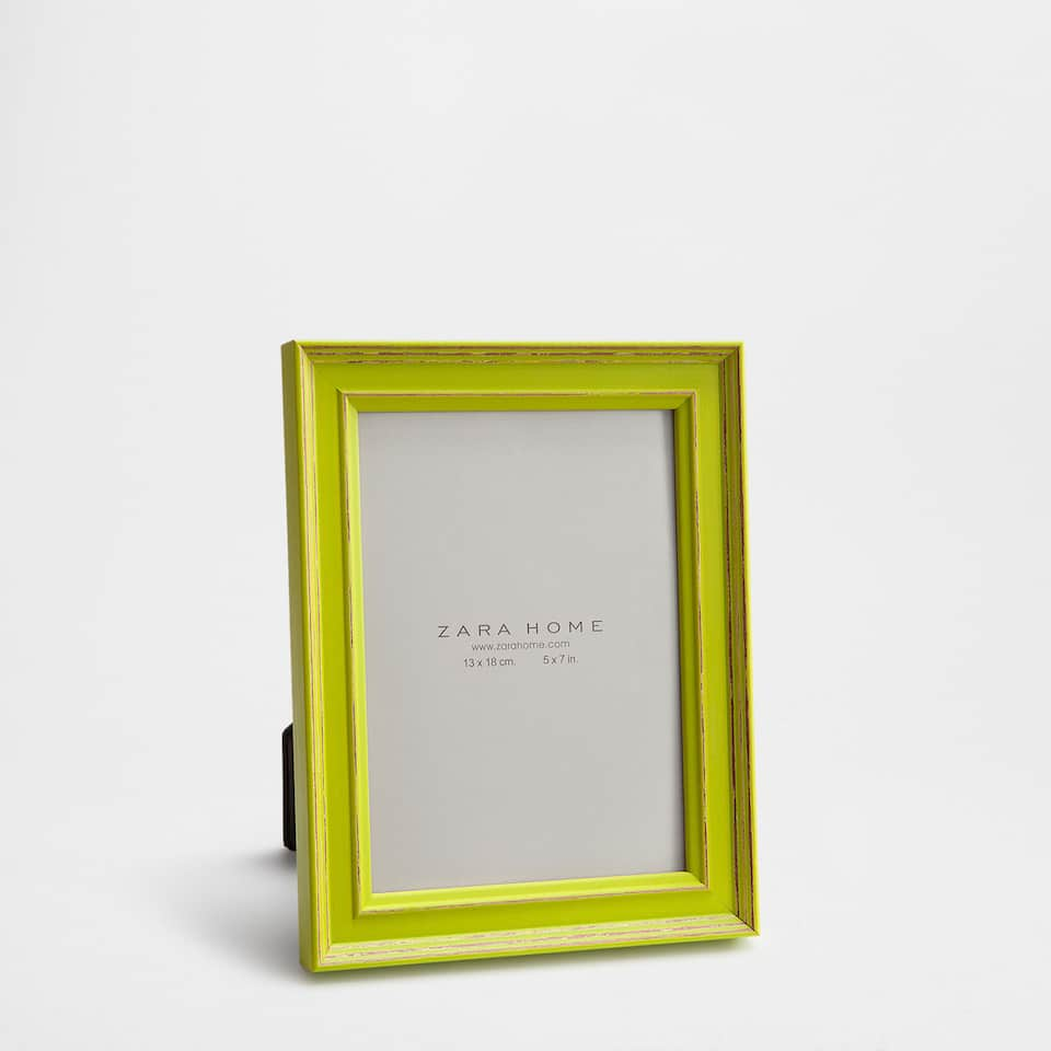 Aged lime wooden frame