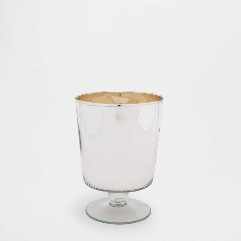 Silver Crystal Cup Candle Holder