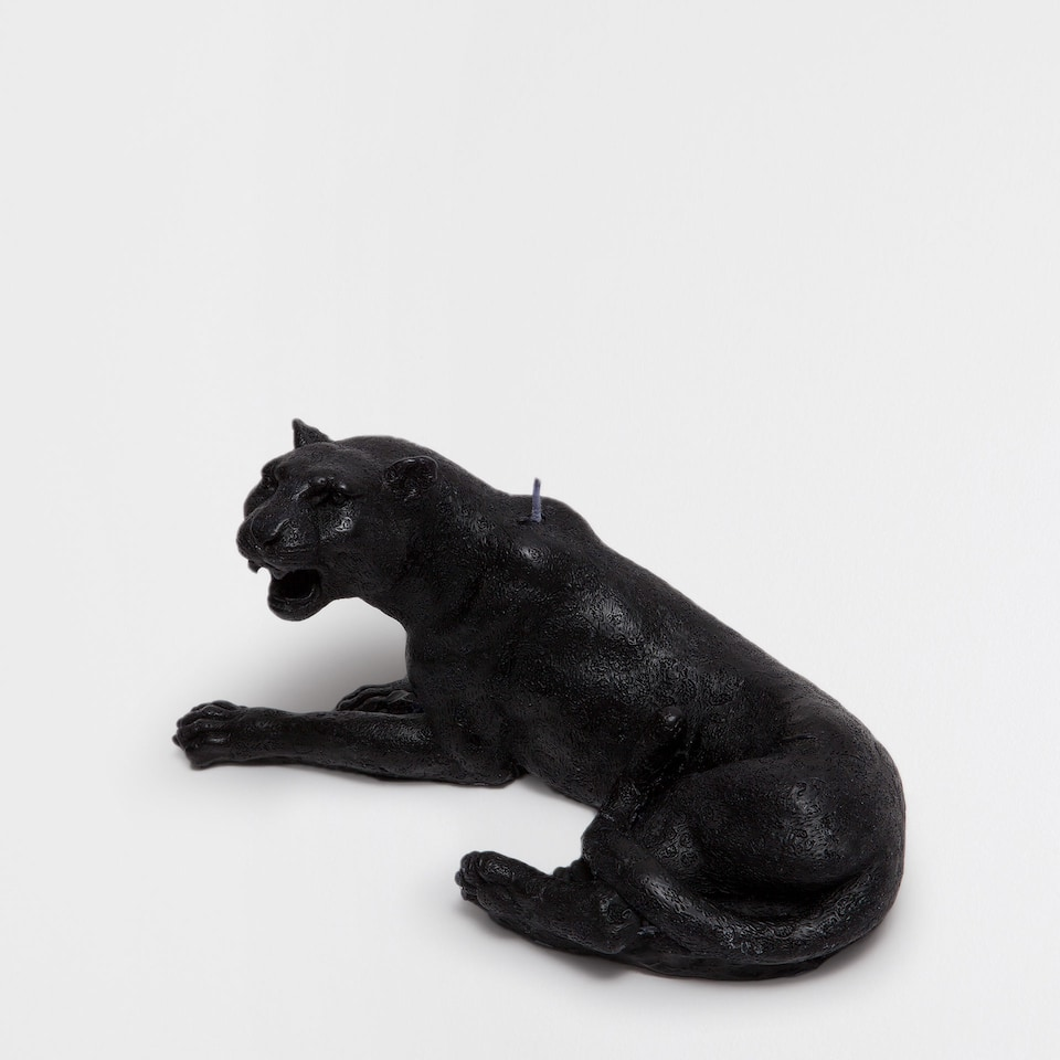 Panther-Shaped Candle