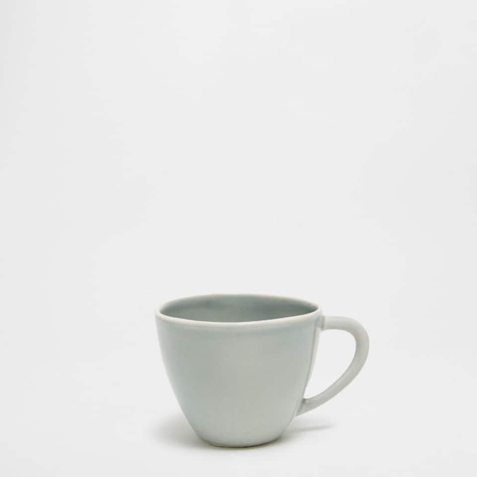 Grey-blue earthenware mug