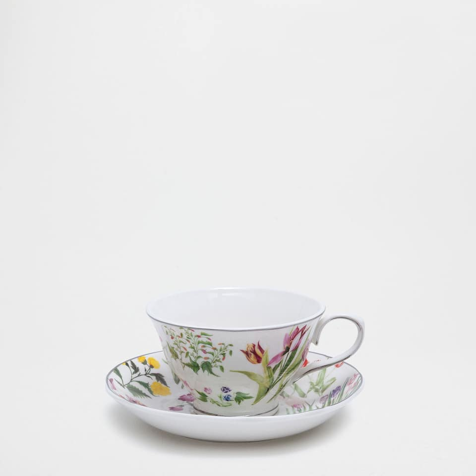NEW5-*-[TAZA TE + PLATO AFTERNOON FILO PORCELANA]L6-ºINVEN-