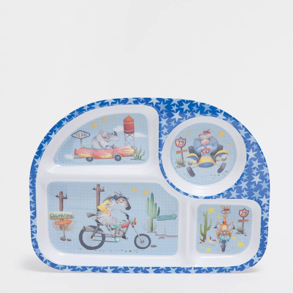 Kids car race melamine tray