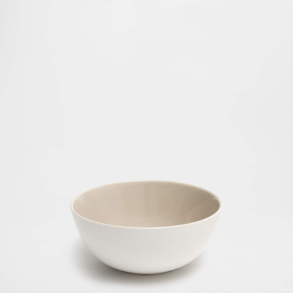 Earthenware bowl with contrasting interior