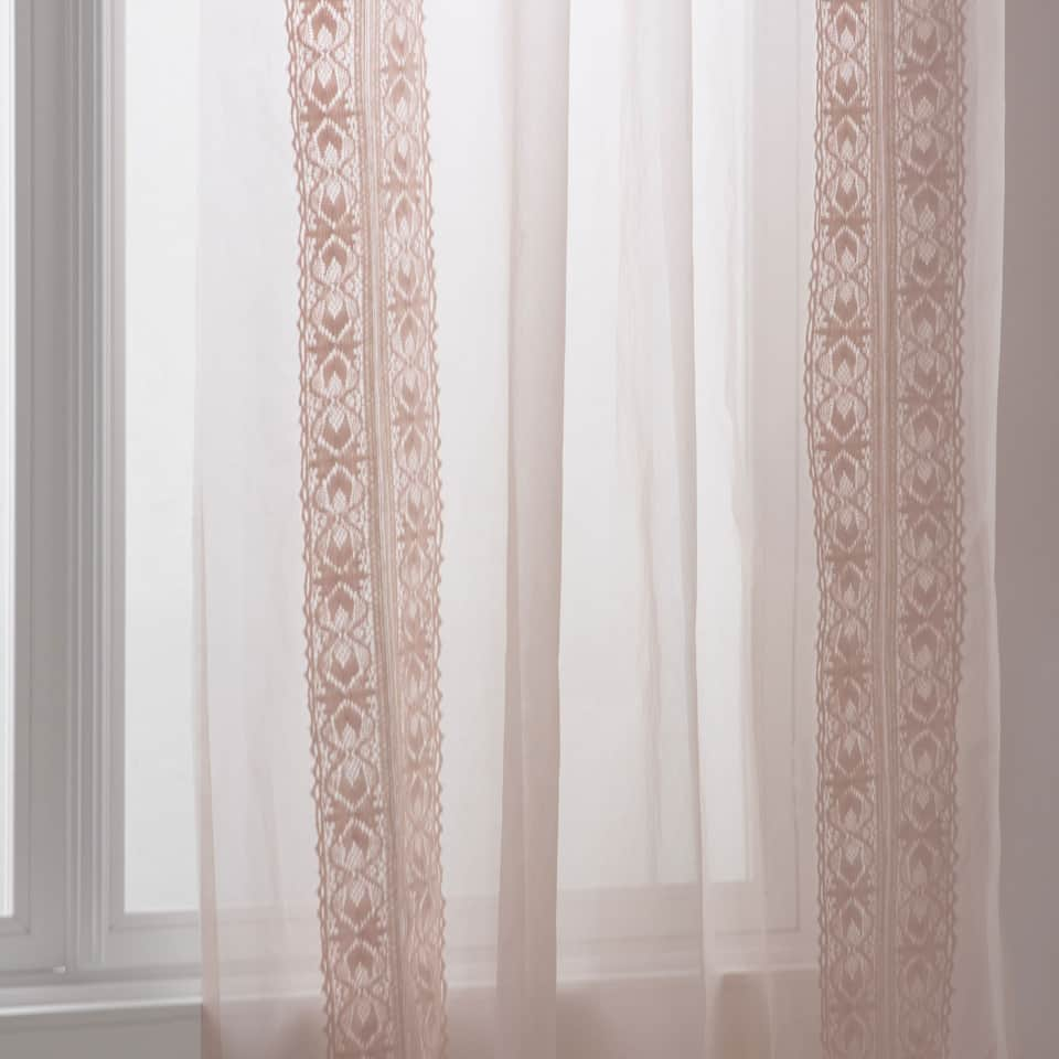 Curtain with a crochet detail
