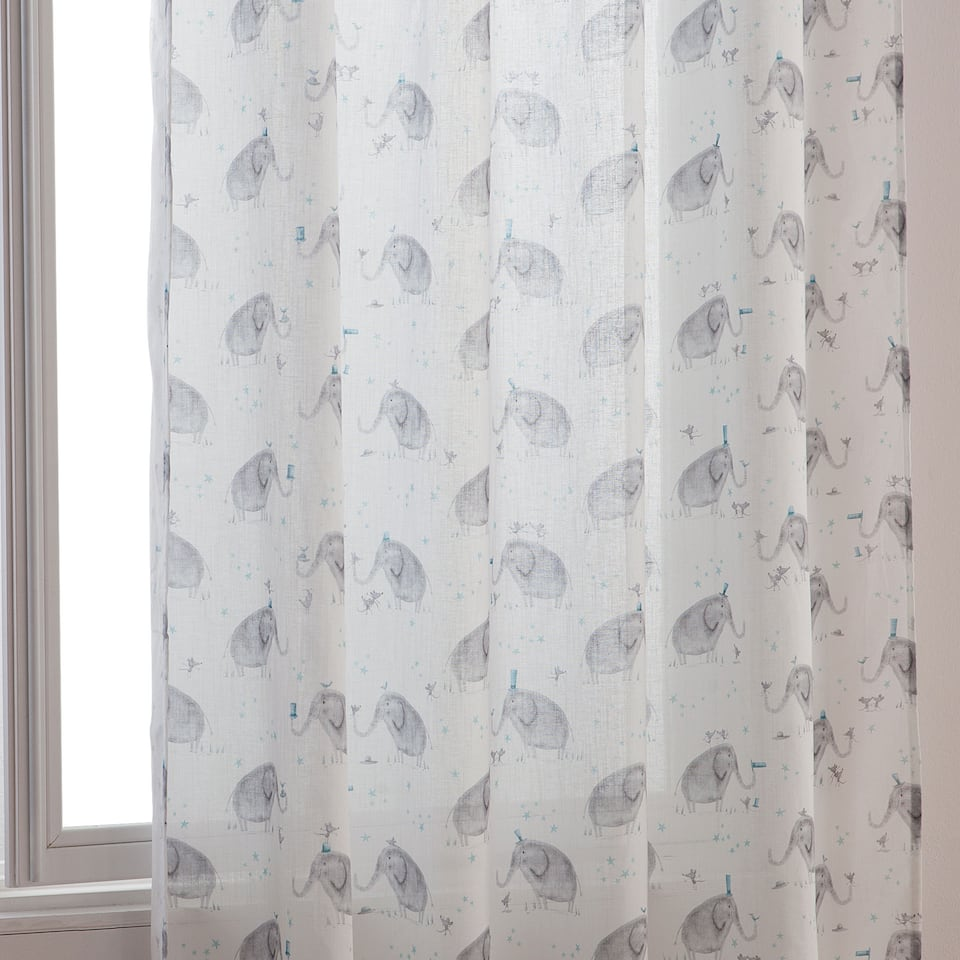 Elephant printed curtain