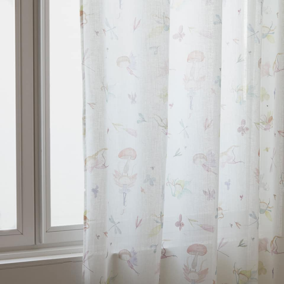 Fairy printed curtain