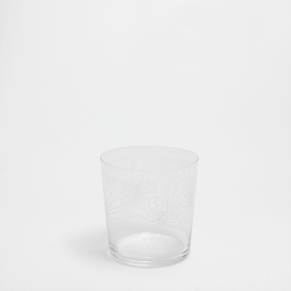 Polka dot glass tumbler