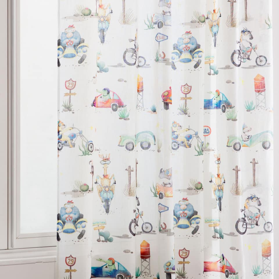 Car printed curtain