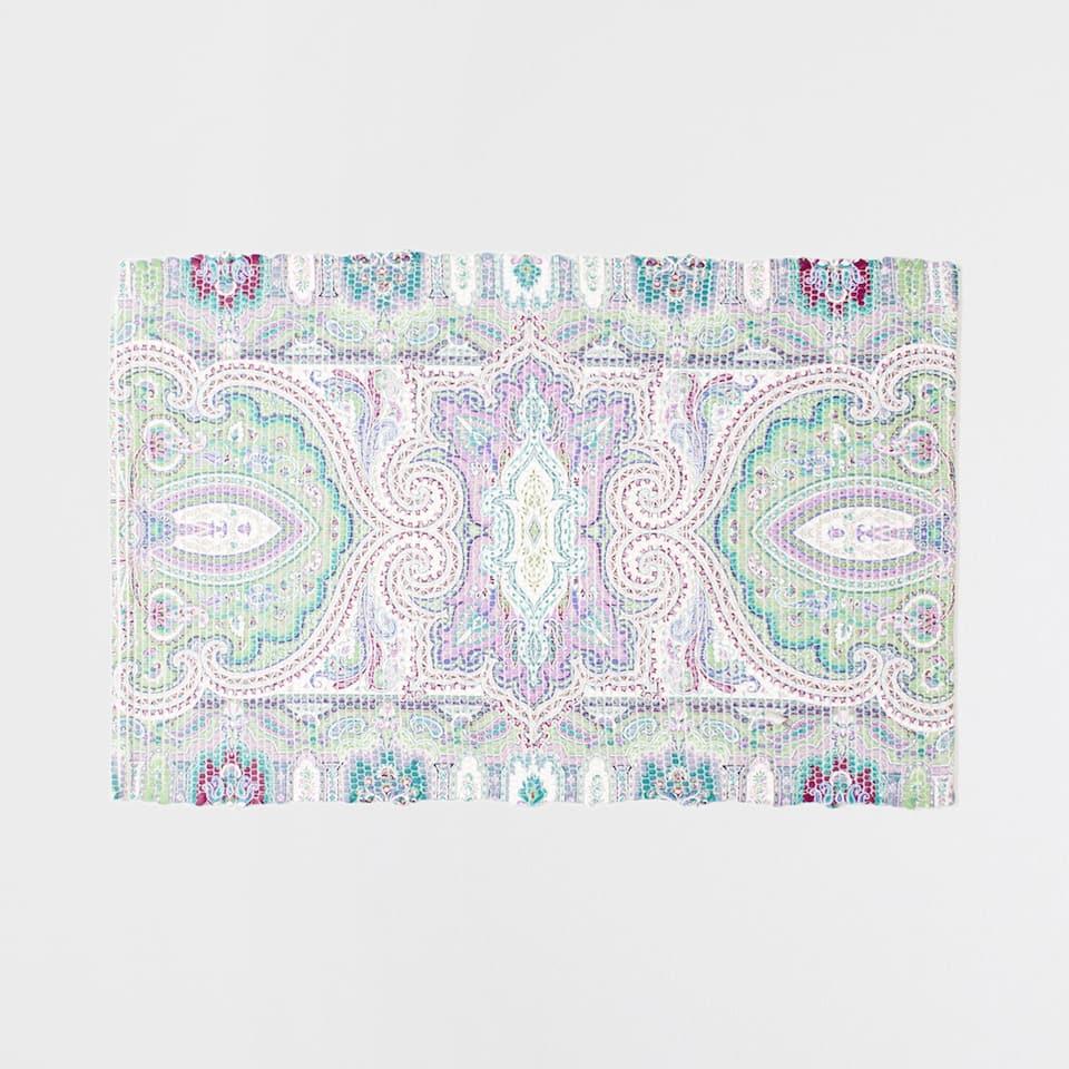 Pink pastel-toned paisley rug