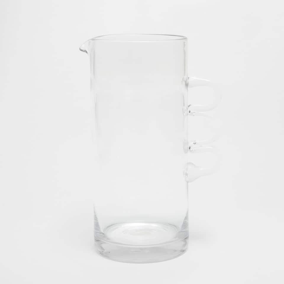 Triple handle glass jug
