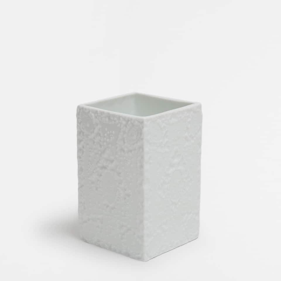 NEW49-*-[VASO CERAMICA BLANCO BRILLO SORAYA]