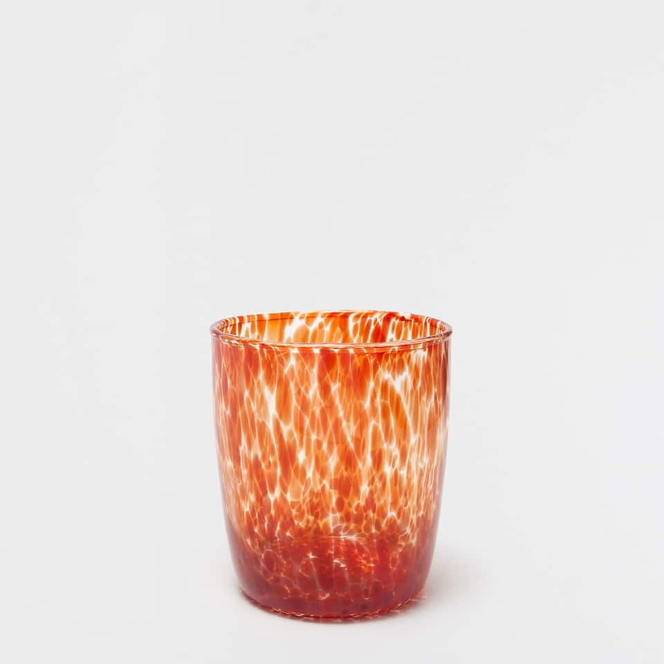 Patterned glass tumbler