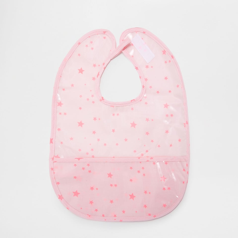 Plastic-coated bib with little stars print