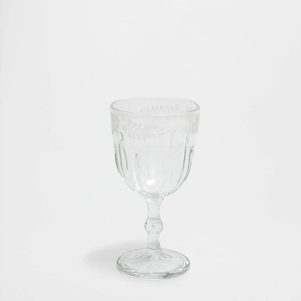 Branch detail wine glass