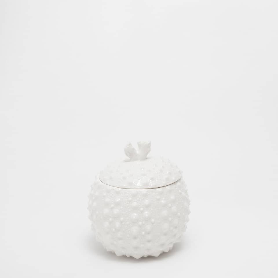 Raised marine ceramic jar