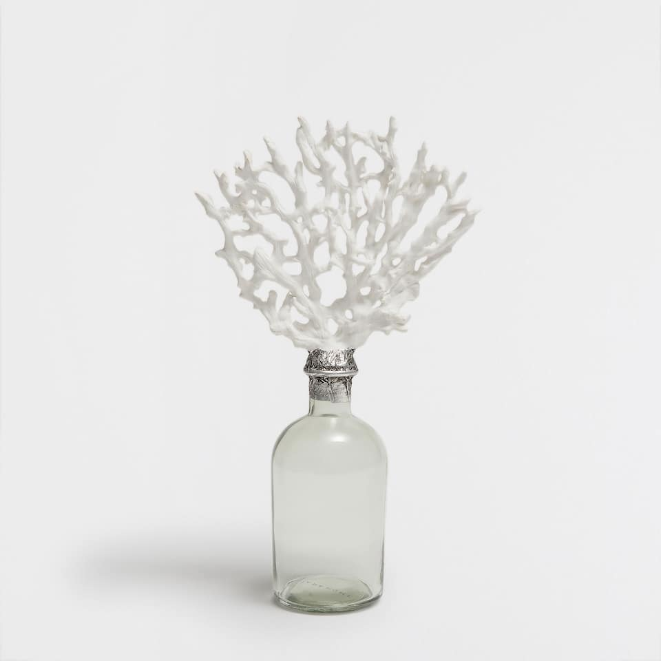 Decorative coral bottle