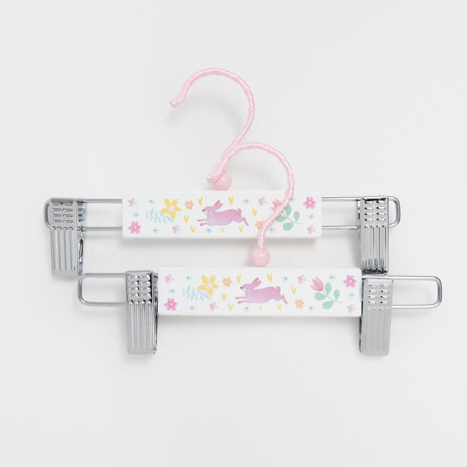Floral peg hanger (set of 2)