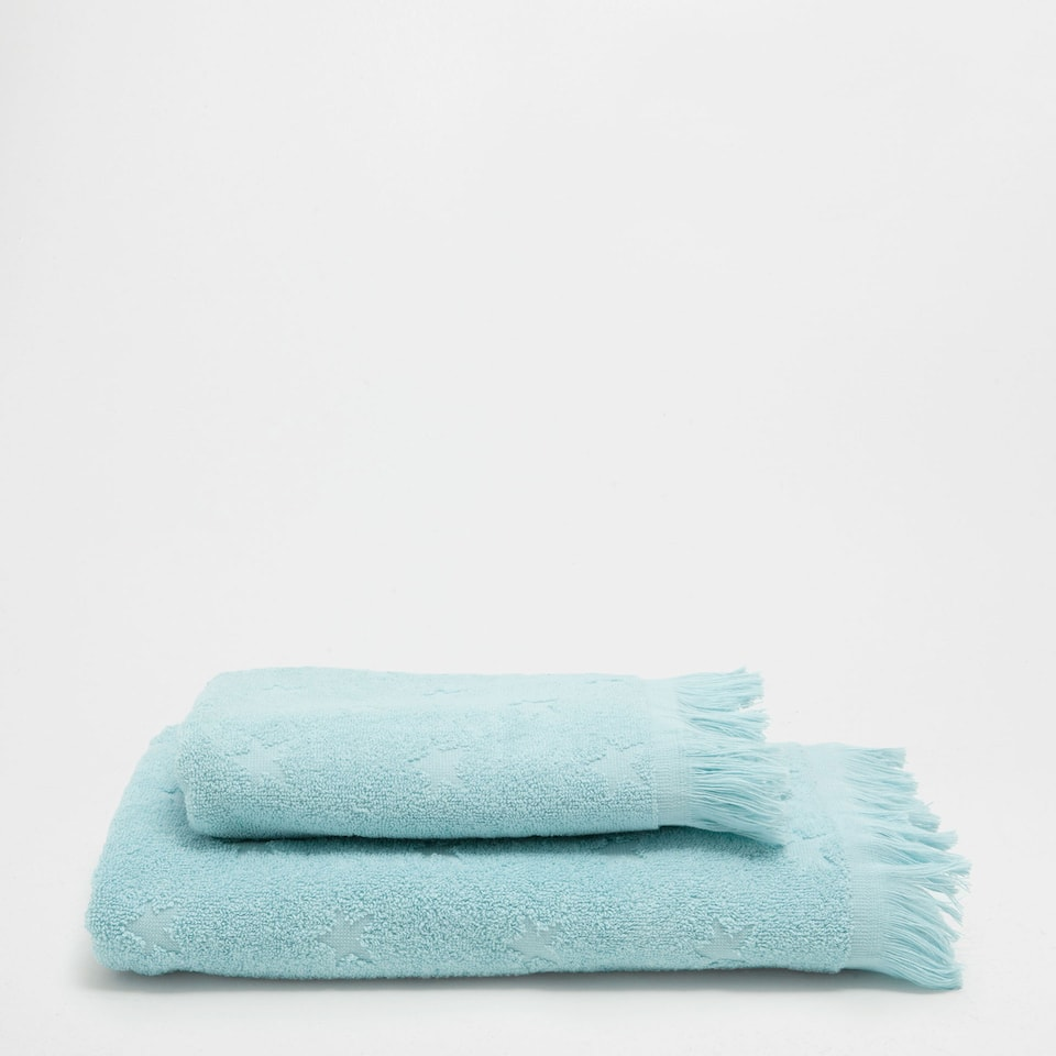 Stars jacquard cotton towel