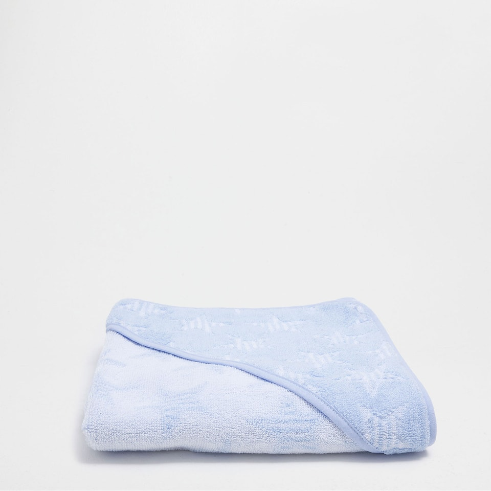 Stars fringed cotton towel
