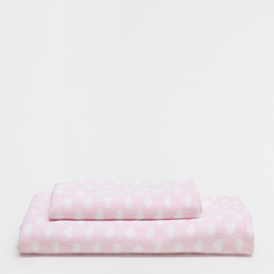 Pink clouds printed towel