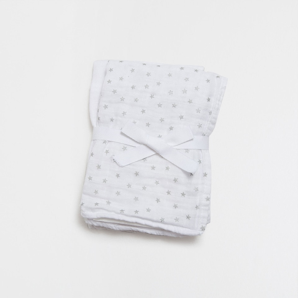 Stars printed baby cloths (set of 2)