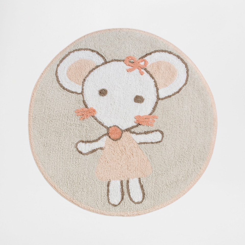 Mouse round bath mat